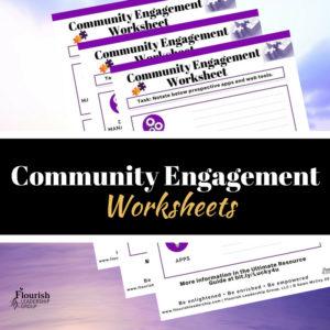 Community Engagement Worksheet Promo